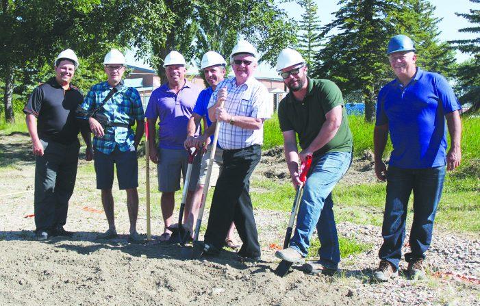 Officials turn sod for aquatic centre project