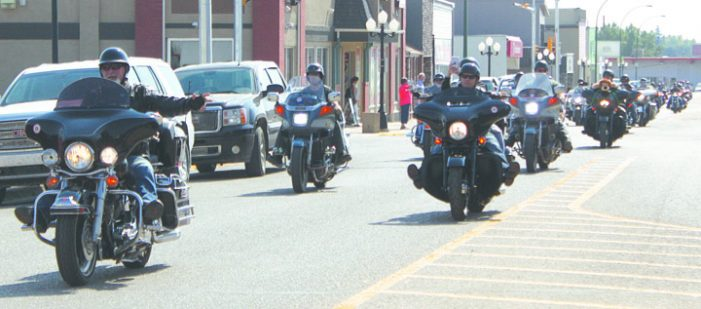 Motorcycle riders come together to support local groups