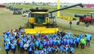 Students harvest an educational farm experience