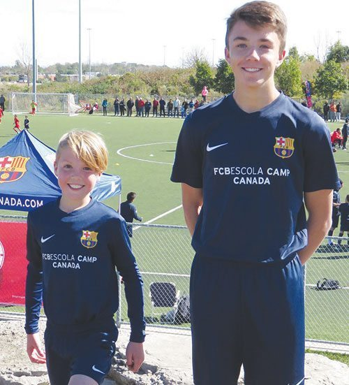 Two young Kindersley soccer players compete at nationals