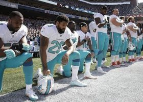 A respectful protest turns into political football