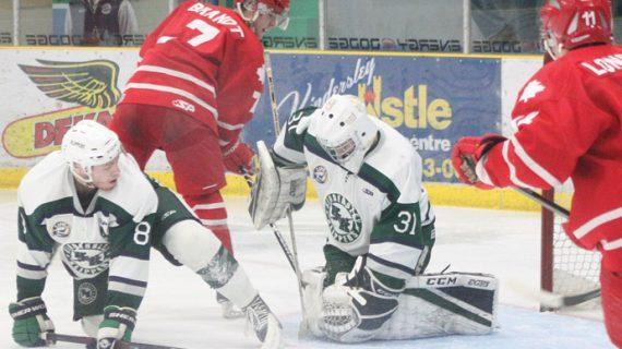 Goaltender Justen Close tames the Hounds