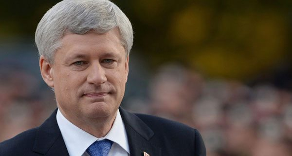 Stephen Harper in the rearview mirror