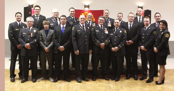 Kindersley firefighters honoured at annual banquet