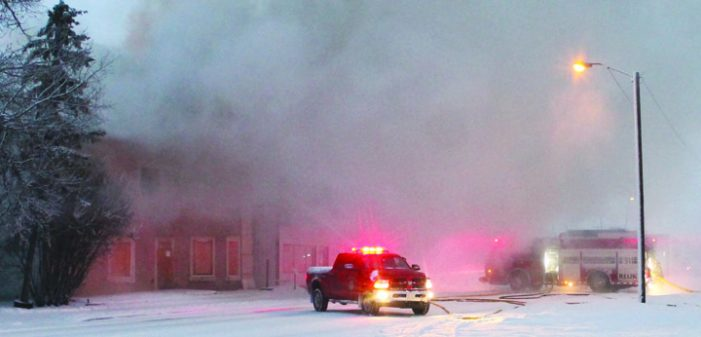 Fire destroys historic Kindersley building
