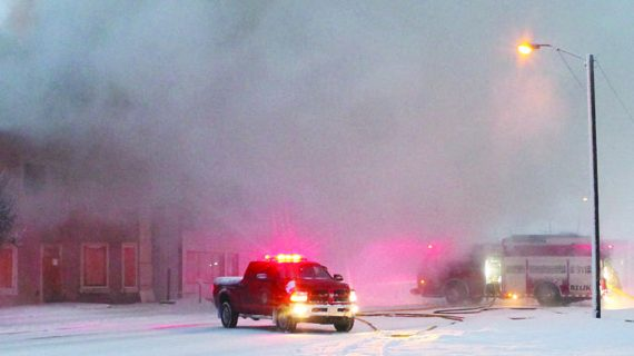 Fire destroys historic Kindersley building