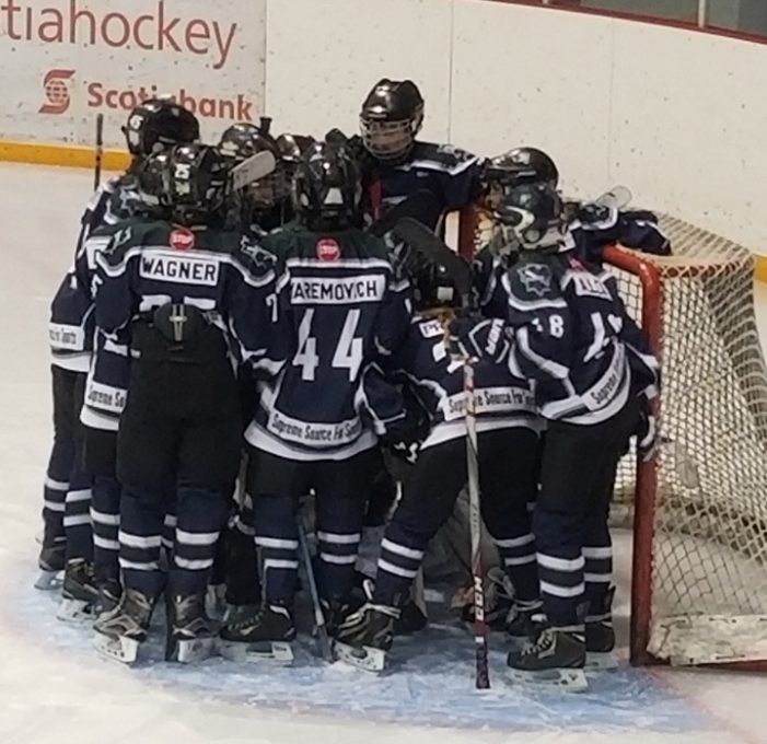 Peewee Falcons face Rosetown in Game 2 of provincials on Wednesday