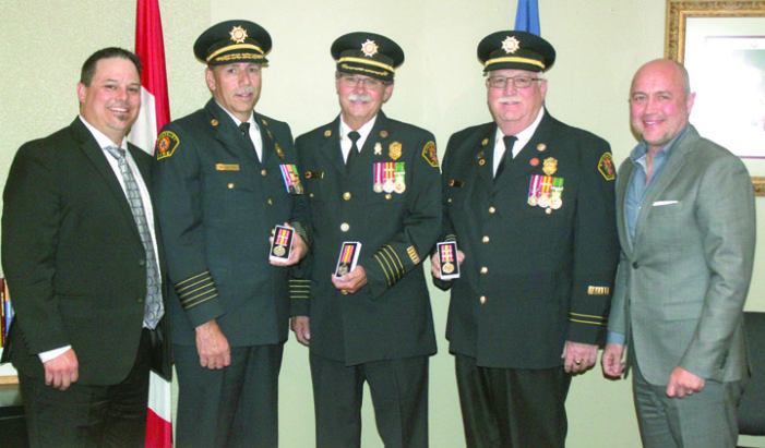 Firefighters honoured with service awards