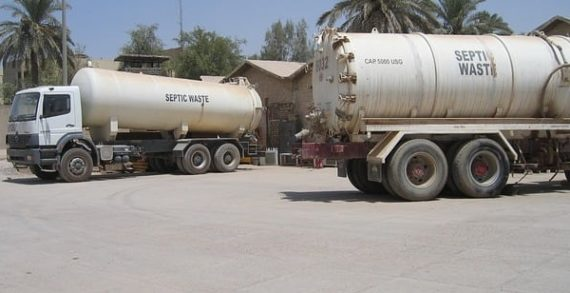 Temporary septic tanks approved for local business