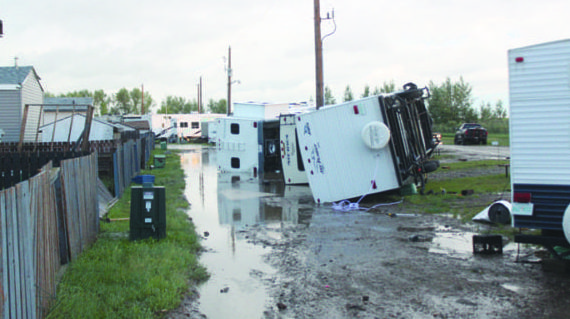 Powerful storm system wreaks havoc on community