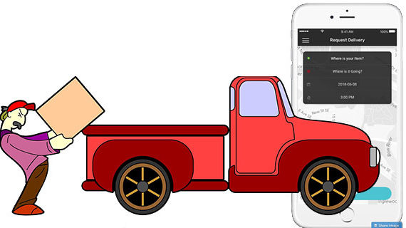 Ride-sharing inspired app offers on-demand delivery service