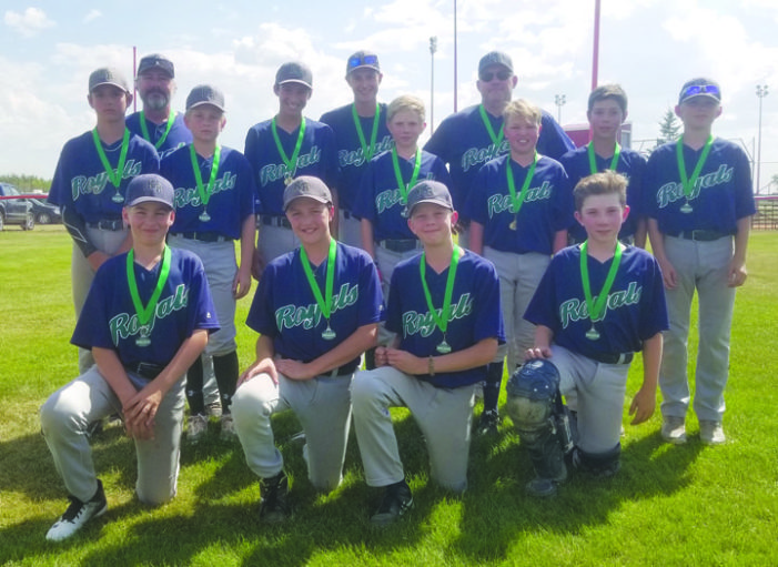 Peewee Royals provincial silver medalists