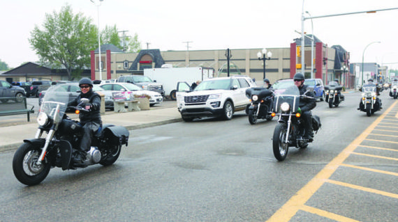Bikers brave the cold for charity ride