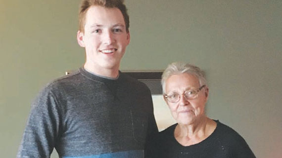 Sheldon Cannon latest recipient of the $1,000 Brian Martin Bursary