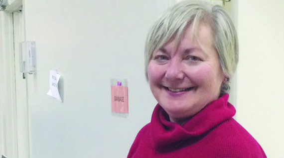 Blood donor clinic volunteer happy to help from start to finish