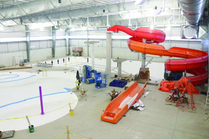 Aquatic centre project nearing completion