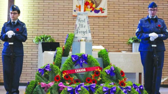 Remembrance Day service honours veterans
