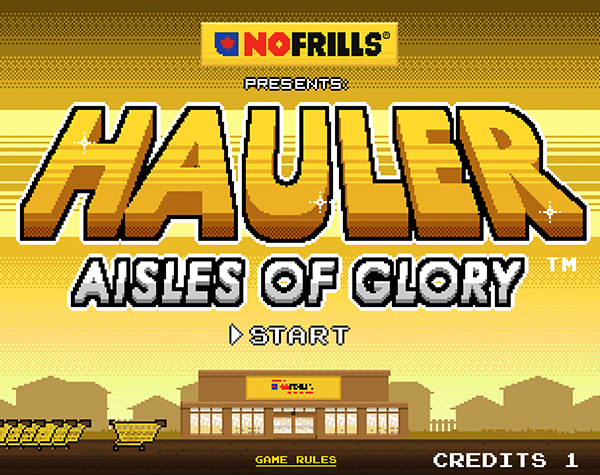 Hauler: Aisles of Glory Opening Screen