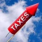Taxes rising like a rocket